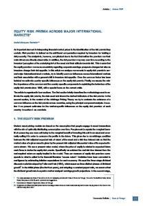 EQUITY RISK PREMIA ACROSS MAJOR INTERNATIONAL MARKETS*