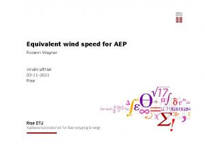 Equivalent wind speed for AEP