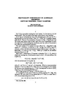 EQUIVARIANT COHOMOLOGY IN ALGEBRAIC GEOMETRY LECTURE THIRTEEN: TORIC VARIETIES