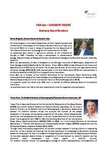 ERA-Can + ADVISORY BOARD. Advisory Board Members