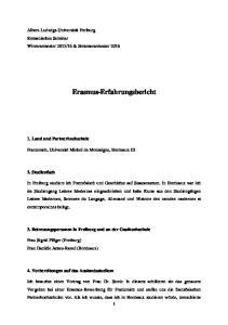 Erasmus-Erfahrungsbericht