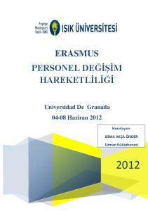 ERASMUS PERSONEL DEĞİŞİM HAREKETLİLİĞİ