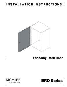 ERD Series. Economy Rack Door INSTALLATION INSTRUCTIONS