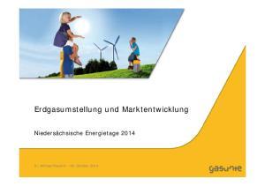 Erdgasumstellung und Marktentwicklung