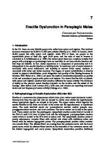 Erectile Dysfunction in Paraplegic Males