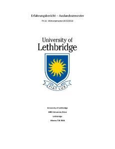 Erfahrungsbericht Auslandssemester