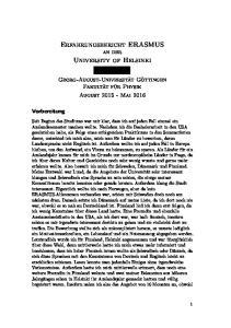 Erfahrungsbericht ERASMUS an der. University of Helsinki