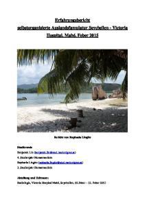 Erfahrungsbericht selbstorganisierte Auslandsfamulatur Seychellen - Victoria Hospital, Mahé, Feber 2015