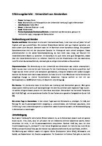 Erfahrungsbericht: : Universiteit van Amsterdam