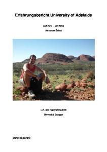 Erfahrungsbericht University of Adelaide