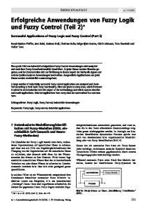 Erfolgreiche Anwendungen von Fuzzy Logik und Fuzzy Control (Teil 2)