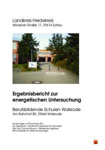 Ergebnisbericht zur energetischen Untersuchung