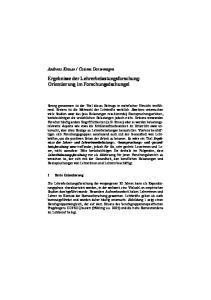 Ergebnisse der Lehrerbelastungsforschung: Orientierung im Forschungsdschungel