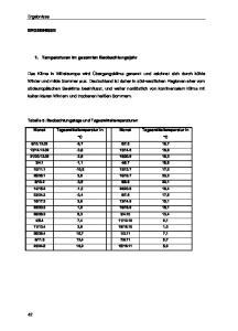 Ergebnisse ERGEBNISSE. 1. Temperaturen im gesamten Beobachtungsjahr