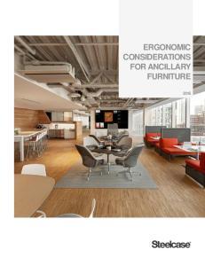 ERGONOMIC CONSIDERATIONS FOR ANCILLARY FURNITURE