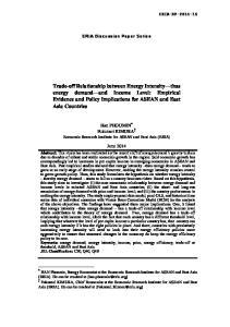 ERIA Discussion Paper Series