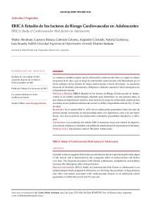 ERICA Estudio de los factores de Riesgo Cardiovascular en Adolescentes