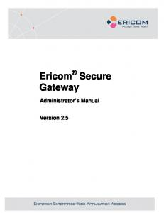 Ericom Secure Gateway