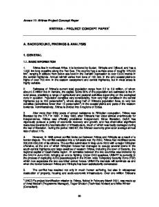 ERITREA PROJECT CONCEPT PAPER 1