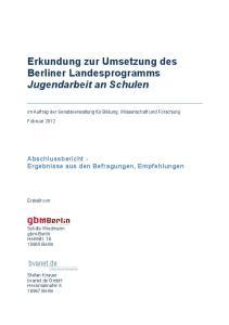 Erkundung zur Umsetzung des Berliner Landesprogramms Jugendarbeit an Schulen