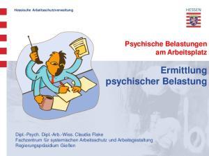 Ermittlung psychischer Belastung