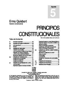 Ermo Quisbert Derecho Constitucional PRINCIPIOS CONSTITUCIONALES