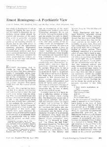 Ernest Hemingway-A Psychiatric View