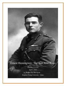 Ernest Hemingway: The Sun Also Rises