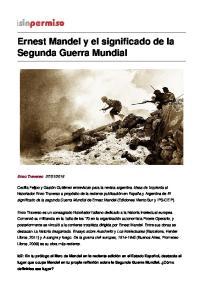 Ernest Mandel y el significado de la Segunda Guerra Mundial