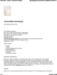 Ernest (Miller) Hemingway
