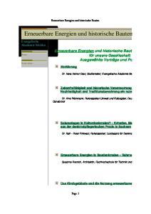 Erneuerbare Energien und historische Bauten