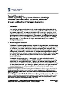 Erosion and Sediment Transport Evaluation