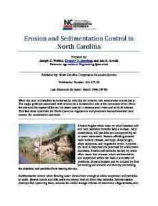 Erosion and Sedimentation Control in North Carolina