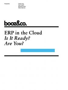 ERP in the Cloud Is It Ready? Are You?