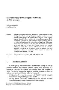 ERP Interfaces for Enterprise Networks An XML approach