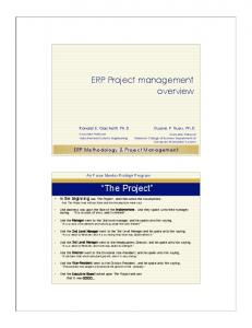 ERP Project management overview