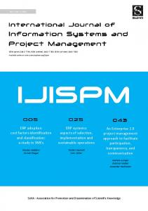 ERP systems: aspects of selection, implementation and sustainable operations