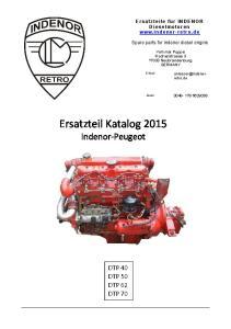 Ersatzteil Katalog 2015 Indenor-Peugeot