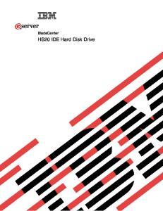 ERserver. BladeCenter. HS20 IDE Hard Disk Drive
