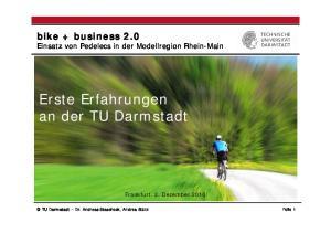 Erste Erfahrungen an der TU Darmstadt