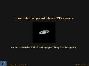 Erste Erfahrungen mit einer CCD-Kamera