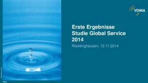 Erste Ergebnisse Studie Global Service 2014