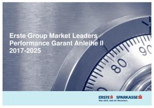 Erste Group Market Leaders Performance Garant Anleihe II