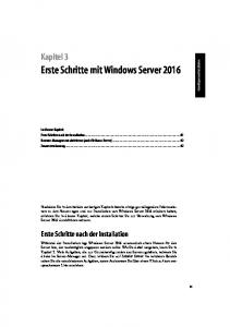 Erste Schritte mit Windows Server 2016