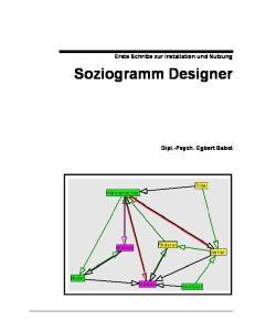 Erste Schritte zur Installation und Nutzung. Soziogramm Designer. Dipl.-Psych. Egbert Babst