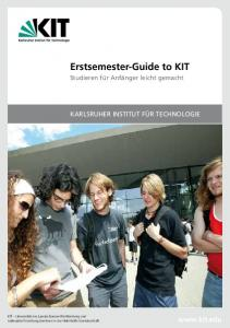 Erstsemester-Guide to KIT