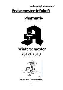 Erstsemester-Infoheft Pharmazie