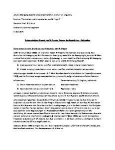 Erstsprachlicher Erwerb von W-Fragen: Theorie der Produktion Fallstudien