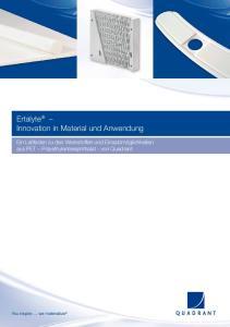 Ertalyte Innovation in Material und Anwendung