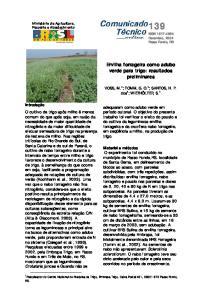 Ervilha forrageira como adubo verde para trigo: resultados preliminares